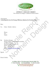 Energy Efficiency Sample Report